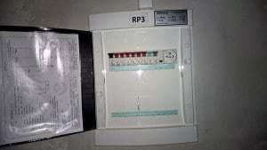 rozvodnica osvetlenia RP3 so schémou zapojenia