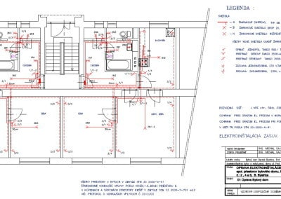 Rekonštrukcia elektroinštalácie v paneláku pôdorys vzor