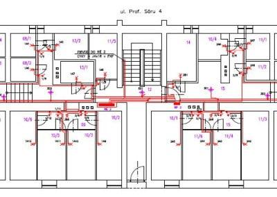 Rekonštrukcia elektroinštalácie v paneláku pôdorys suterén osvetlenie, zásuvky