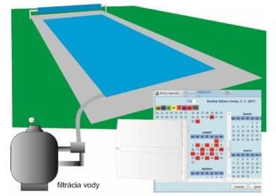 Automatické spúšťanie filtrácie vody v bazéne