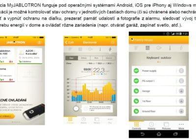 Mobilná a webová aplikácia MyJABLOTRON
