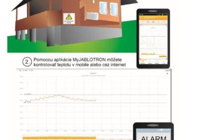 Monitorovanie teploty pomocou alarmu