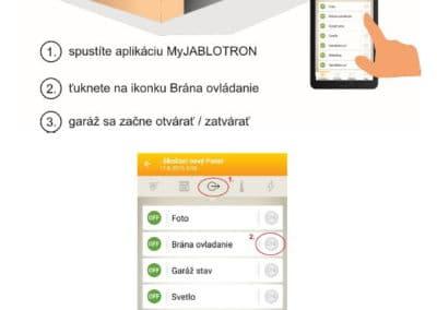 Otváranie-zatváranie garáže pomocou mobilnej a webovej aplikácie MyJABLOTRON 1