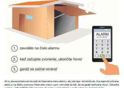 Otváranie-zatváranie garáže prezvonením z mobilu