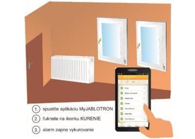 Ovládanie vykurovania pomocou mobilnej aplikácie MyJABLOTRON