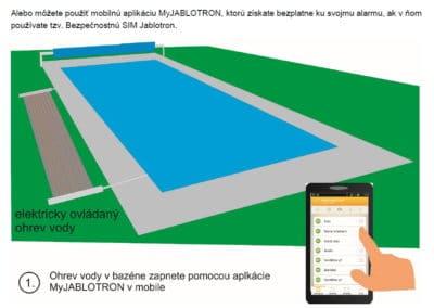 Zapínanie ohrevu vody v bazéne pomocou mobilného telefónu 2
