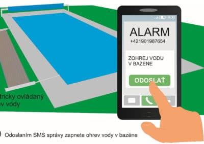 Zapínanie ohrevu vody v bazéne pomocou mobilného telefónu