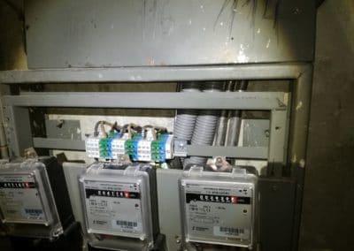 výmena elektrických rozvodov v dome vývodové svorky pripravené pre 3fázové prívody byty