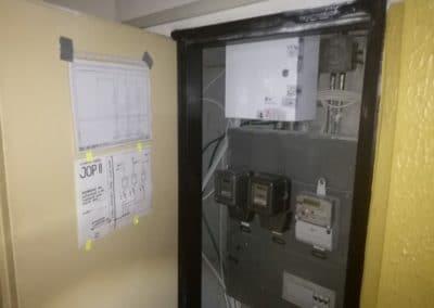 výmena elektrických rozvodov v dome rozvodnica po rekonštrukcii so schémou zapojenia
