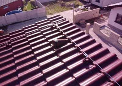 Uchytenie bleskozvodovej sústavy na streche domu