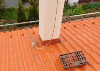ochrana pred bleskom - pripojenie jímacej tyče na zvody