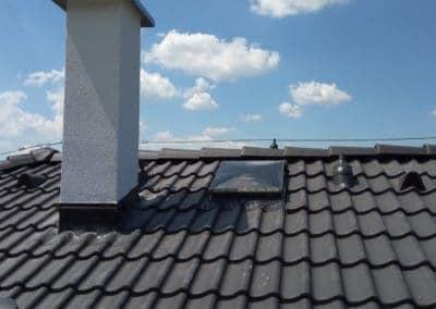 Uchytenie bleskozvodovej sústavy na streche rodinného domu