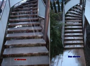 rozmrazenie schodov - ohrev a bez ohrevu