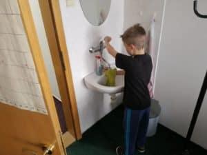 umývadlo poumývať