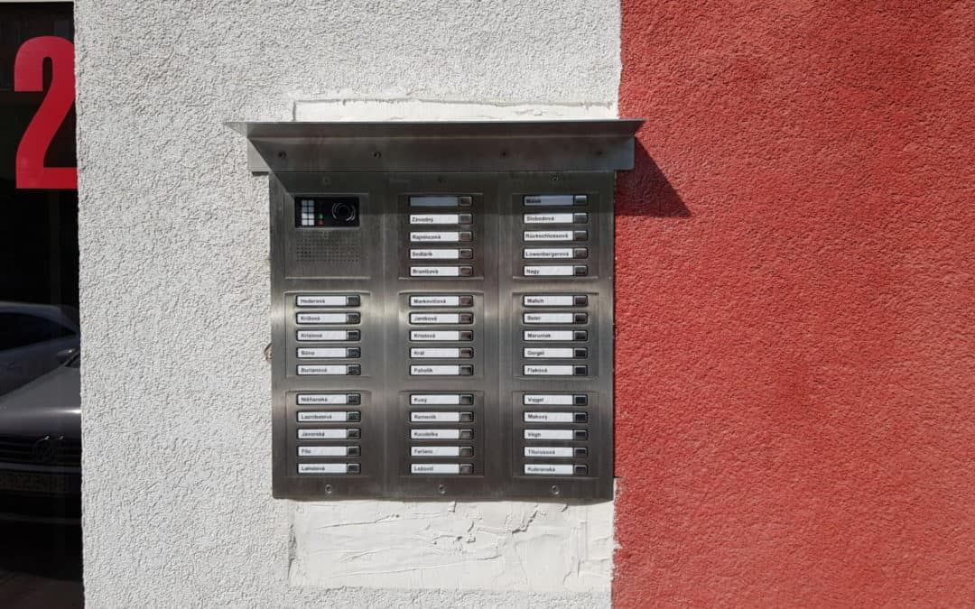 Elektrický vrátnik, VIDEO pre 4 vchody – 139bj, BA [REALIZÁCIA]