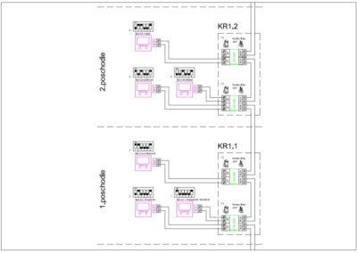 schéma zapojenia GOLMAR GB2 - zapojenie byty