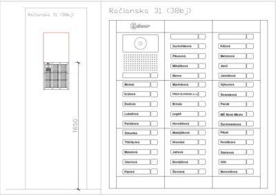 schéma zapojenia GOLMAR GB2 - vizualizácia tablo + výška