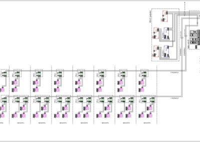 schéma zapojenia GOLMAR GB2 - kompletná schéma 38 bytov