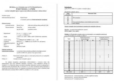 Protokol o určení vonkajších vplyvov podľa STN 33 2000-5-51