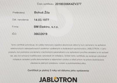 certifikát jablotron-k4-skolenie 2018