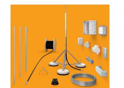 Zachytávacia sústava, tyče a zvody – materiály a hrúbka