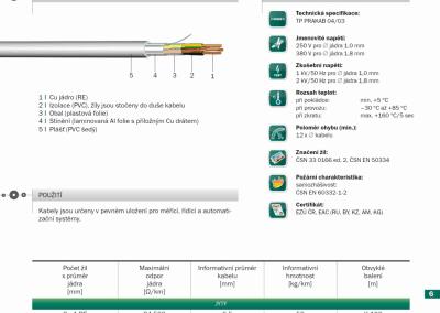 JYTY PRAKAB - priemyselné ovládacie káble