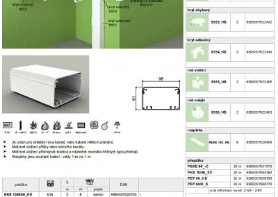 Elektroinštalačný elegant kanál EKE 100x60 kopos