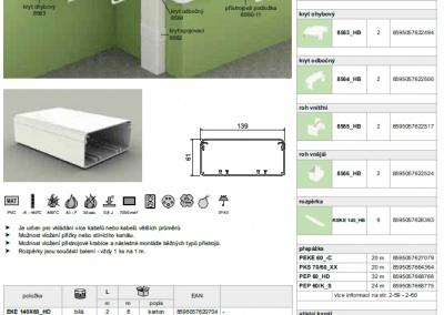 Elektroinštalačný elegant kanál EKE 140x60 kopos