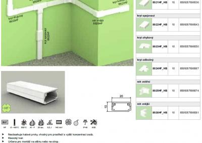 Bezhalogenová elektroinštalačná lišta hranatá LHD 20x10 kopos