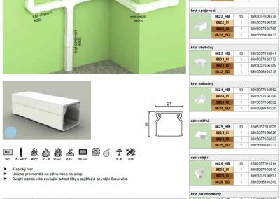 Elektroinštalačná lišta hranatá LHD 20x20 kopos