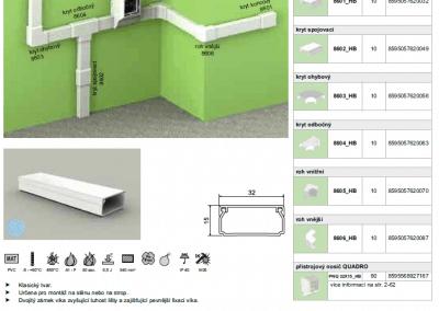 Elektroinštalačná lišta hranatá LHD 32x15 kopos