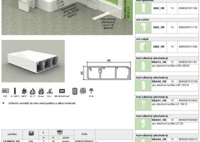 Elektroinštalačná lišta podlahová LP 80x25 kopos