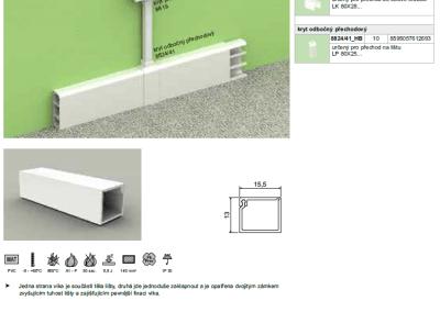 Elektroinštalačná lišta LZ 15x12 kopos