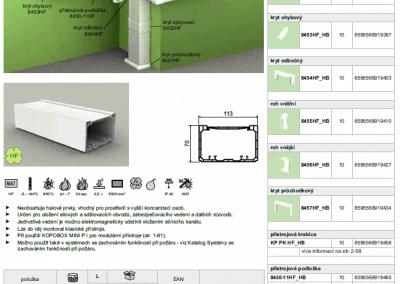 Bezhalogenový elektroinštalačný kanál PK 110x70 kopos