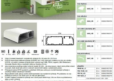 Parapetný elektroinštalačný kanál PK 210x70 kopos