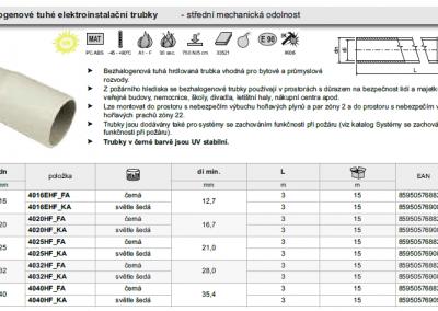 Pevné trubky bezhalogenové so strednou mechanickou odolnosťou - KOPOS.
