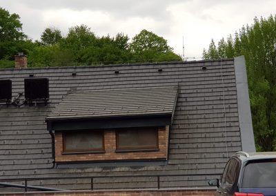Bleskozvod na drevenej streche