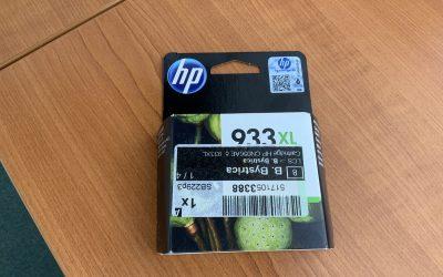 Cartridge 933XL žltá 1ks za 10,- Euro