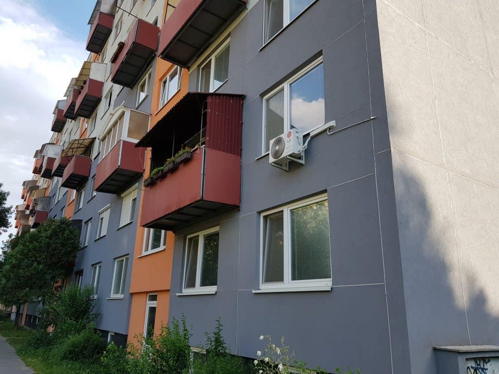 Klimatizácie na bytovke