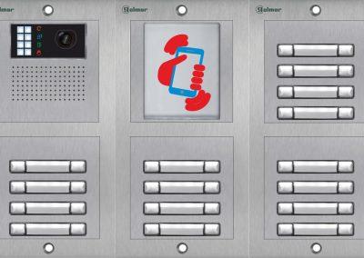 Zvončekové tablo GOLMAR NEXA s NFC čítačkou