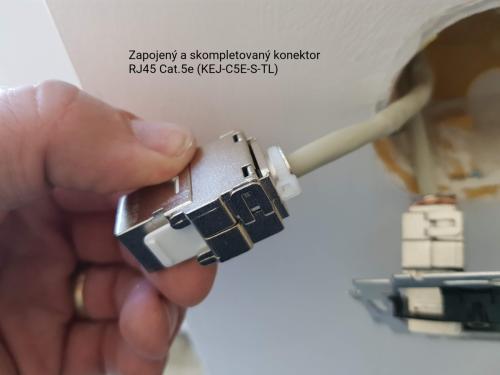 Zapojený konektor RJ45